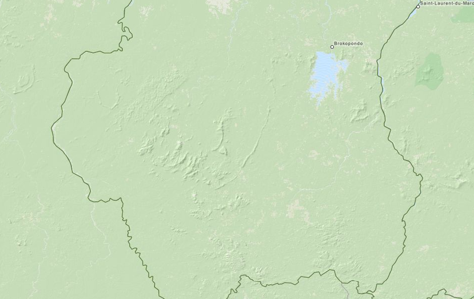 Map of Suriname in ExpertGPS GPS Mapping Software