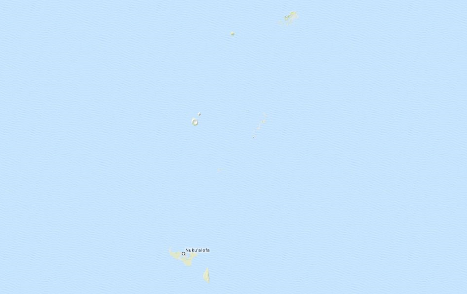 Map of Tonga in ExpertGPS GPS Mapping Software