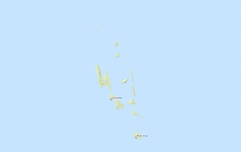 Map of Vanuatu in ExpertGPS GPS Mapping Software