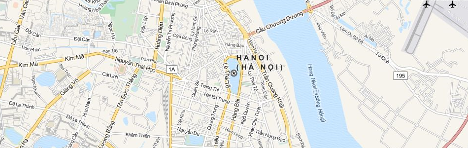 Map of Vietnam in ExpertGPS GPS Mapping Software