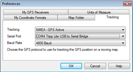 USB to Serial Adapter GPS tracking